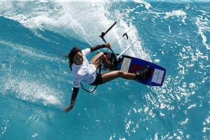 Watersports / Kitesurf,  Weltbeste Kitesurfer fliegen auf Aegypten, Sabrina Lutz