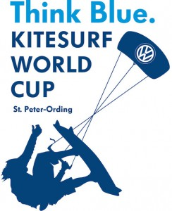 Offizielles Event-Logo Think Blue. Kitesurf World Cup / St. Peter-Ording